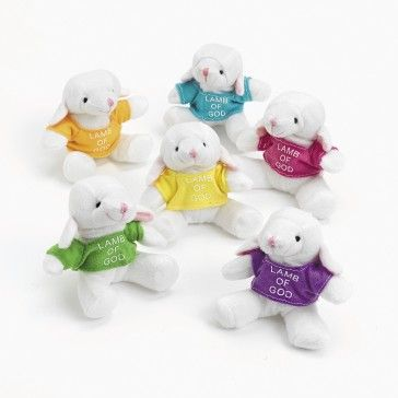 Plush Lambs With A Religious T-Shirt (1 dz)(Prize Box)