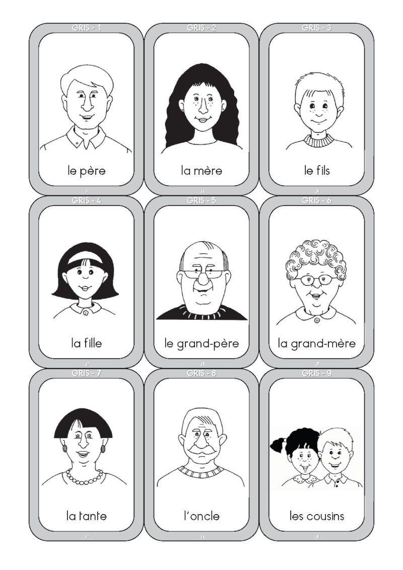 Jeu de 7 familles a colorier votre image id 3 sur - Coloriage de la famille ...