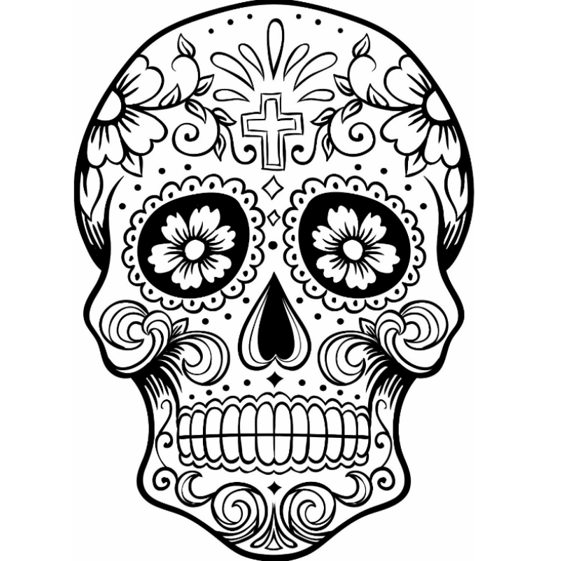 Sugar skull coloring pages for adults | Kids Colouring Pages ...