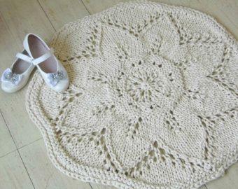 Lavorato a mano tappeto di corda molle, 100 cotone