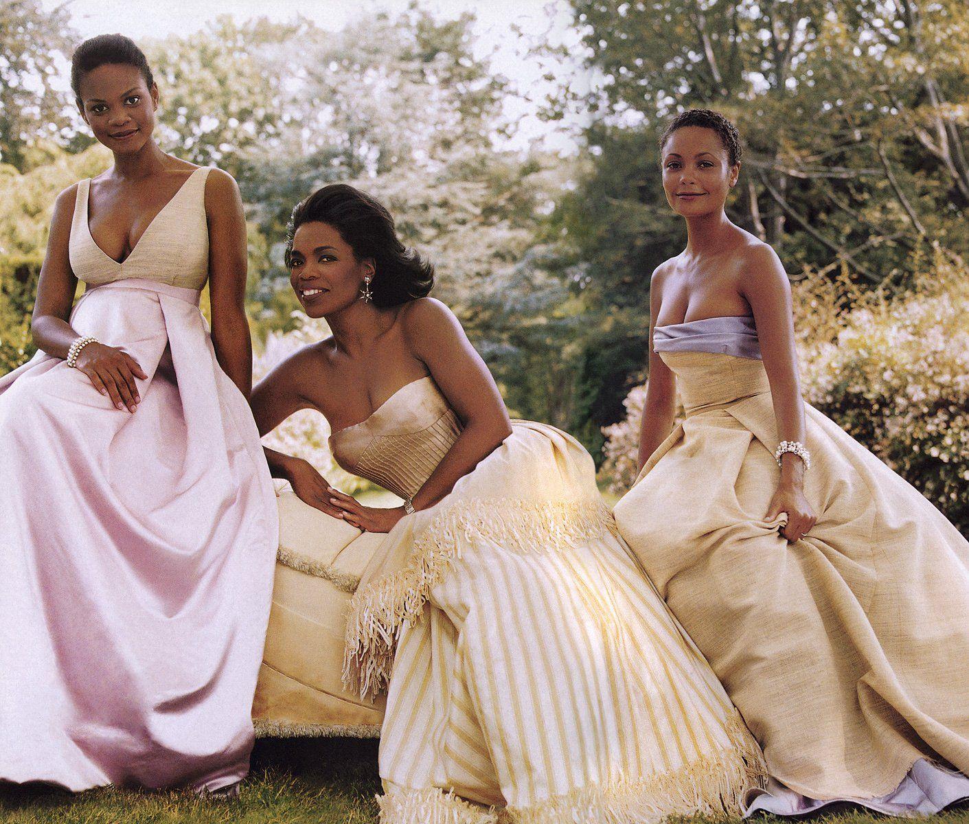 BELOVED WOMEN - From left: Kimberly Elise in an Isaac Mizrahi dress ...