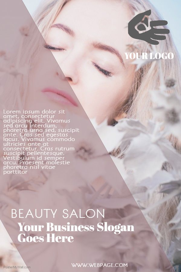 Beauty Salon Flyer Template Slogan      Flyer