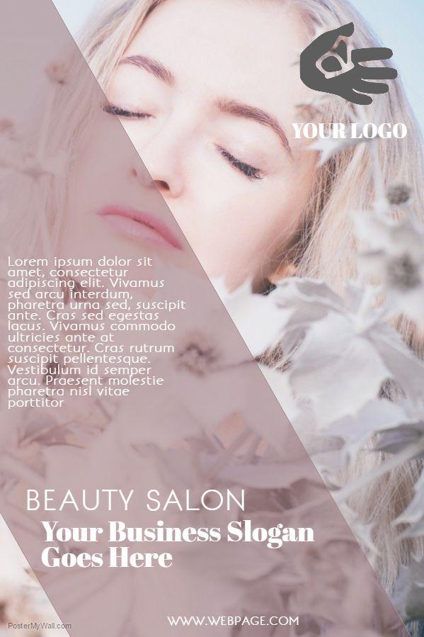 Beauty Salon Flyer Template Slogan      Flyer