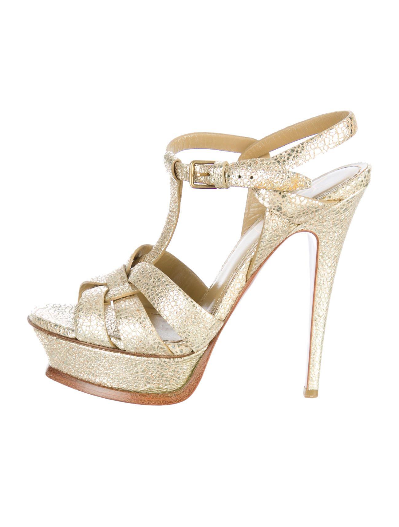 6889744d51e Yves Saint Laurent Metallic Tribute Sandals What I Want