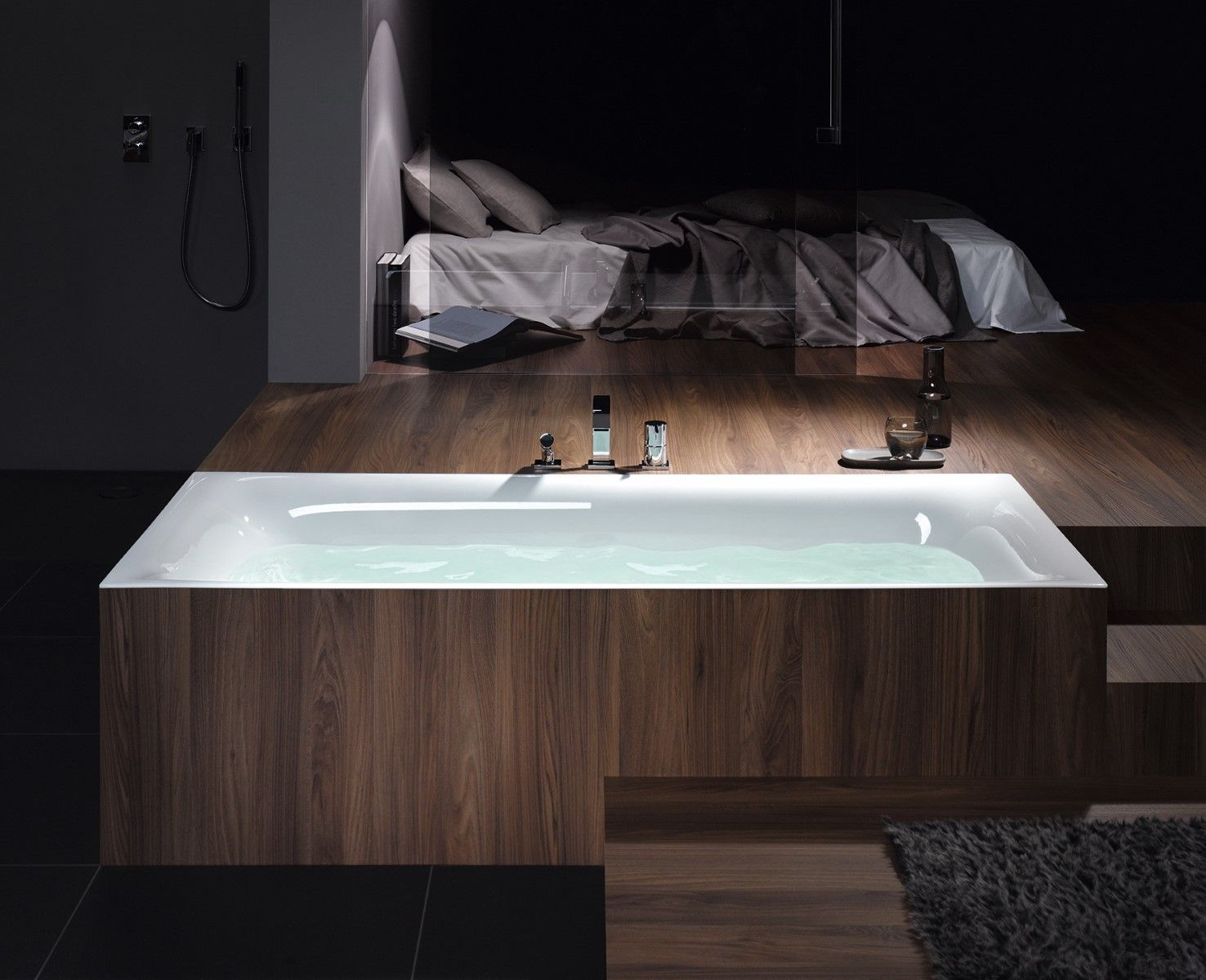 Rechteck Badewanne Und Waschbecken Bette Lux 1 Badezimmer En Suite Eingebaute Badewanne Badezimmer
