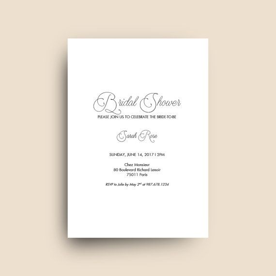 Printable Bridal Shower Invitation Template for Microsoft Word
