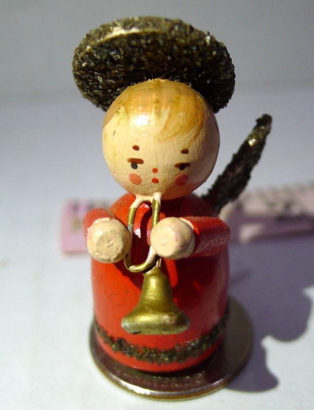#WoodenChristmasAngel #MiniatureAngel #ChristmasAngels #GabrielsHorn #MIniatureAngels #WoodenAngels #VintageChristmasAngels #PrinteresTraySmall Angel with Horn Miniature Wood Decorative Printers Tray Tiny Vintage