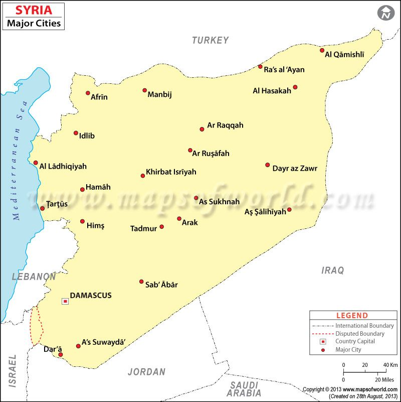 Syria Cities Map | Maps in 2019 | Map, Syria, City on