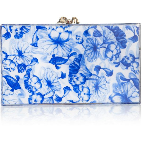 Charlotte Olympia Ming Pandora Perspex clutch (10,275 MXN) ❤ liked on Polyvore featuring bags, handbags, clutches, charlotte olympia, blue, lucite purse, blue clutches, blue handbags, charlotte olympia handbags and clasp purse