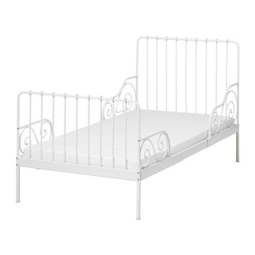 IKEA - MINNEN, Ext bed frame with slatted bed base, , Extendable, so