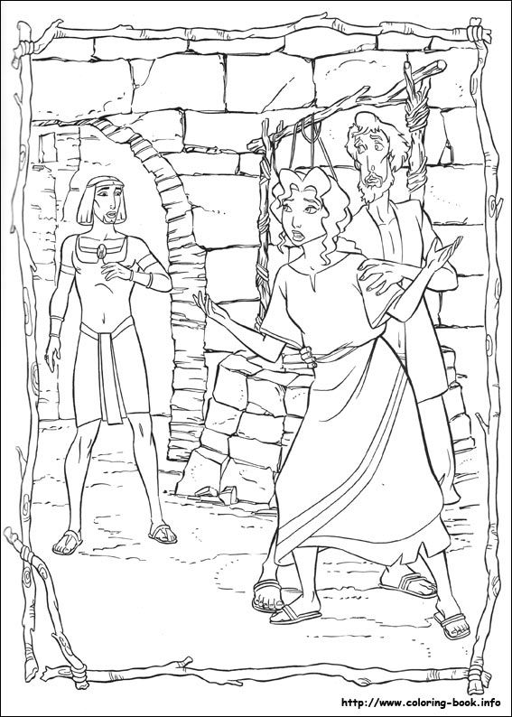 The Prince Of Egypt Coloring Picture Prince Of Egypt Coloring