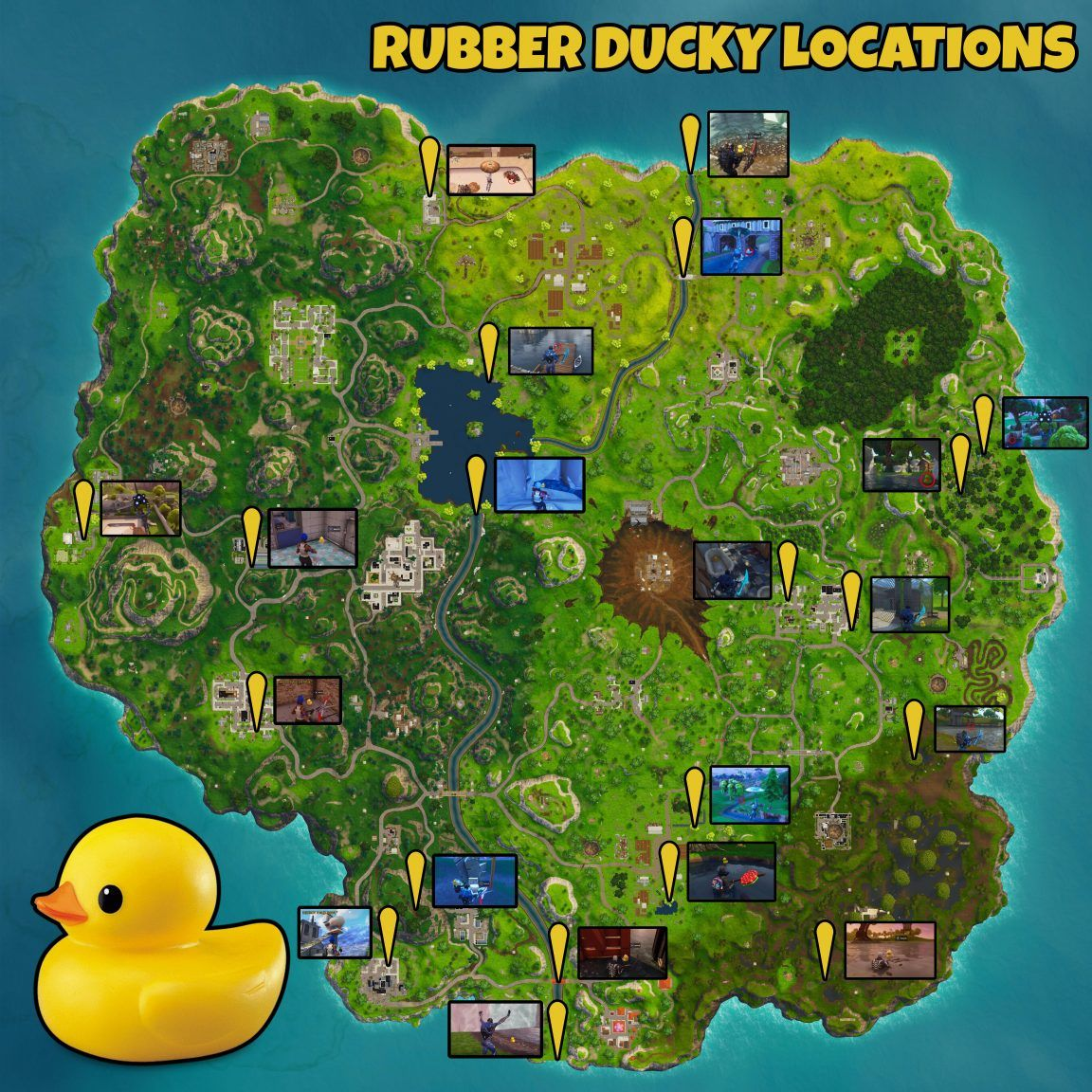 Fortnite Search Rubber Duckies How To Find 10 Quacking Rubber Ducks In Fortnite Fortnite Indoor Soccer Field Battle Star