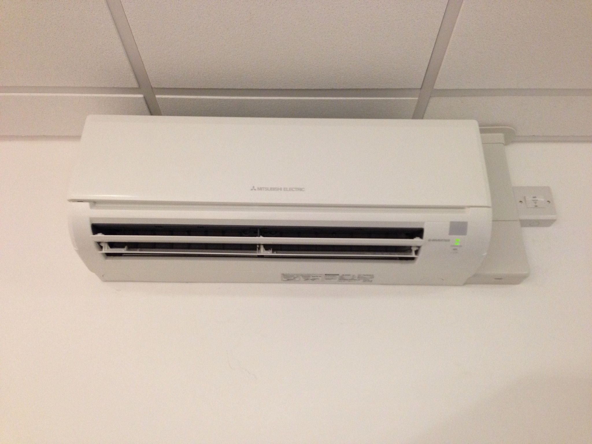 Mitsubishi Electric MSZ GE50 Wall Mounted Air Conditioning System Installed  In Nottingham City Centre Office