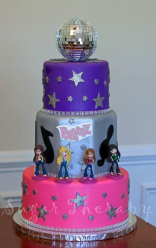 Peachy Bratz Cake By Sugar Therapy 25Th Birthday Parties Doll Cake Personalised Birthday Cards Akebfashionlily Jamesorg