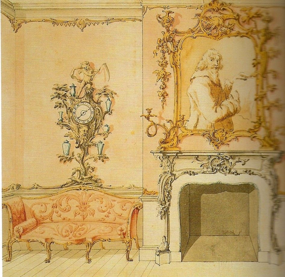 Witching French Style White Wooden Fireplace Surrounds With Rococo