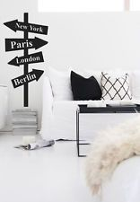 Wall Vinyl Sticker Decal Street Sign NY London Custom Countryes Cites  (r1366)