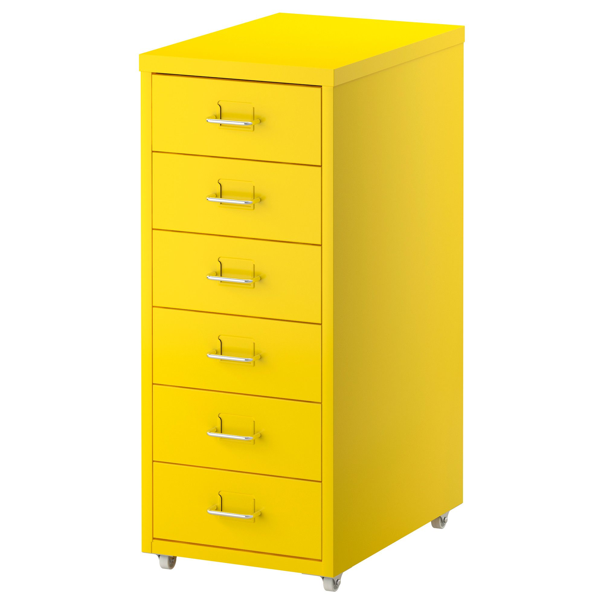 helmer drawer unit on casters yellow ikea width 11 depth 16 3 4 height 27 1 8 home. Black Bedroom Furniture Sets. Home Design Ideas