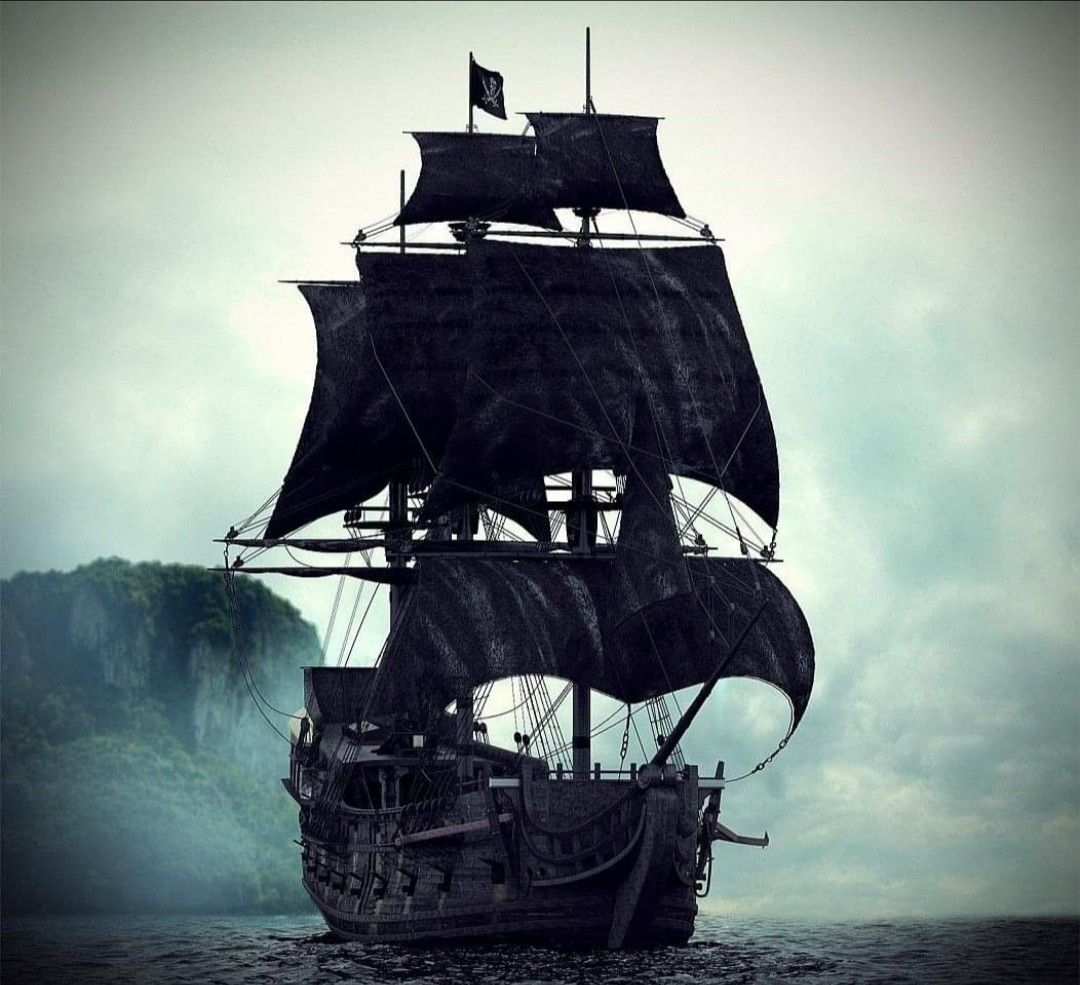 Pirates of the carribean black pearl aesthetic the black pearl wallpaper  background #potc #jacksporrow #pir… in 2020   Pirate boat tattoo, Pirate  boats, Pirate ship tattoos