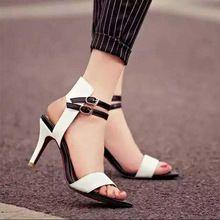 17c7740394 ... 8 cm Sandalias de Tacón Alto Para Las Mujeres Hebilla Del Tobillo de  piel de Oveja Señoras Vestido Bombas zapatos Baratos mujer(China (Mainland))
