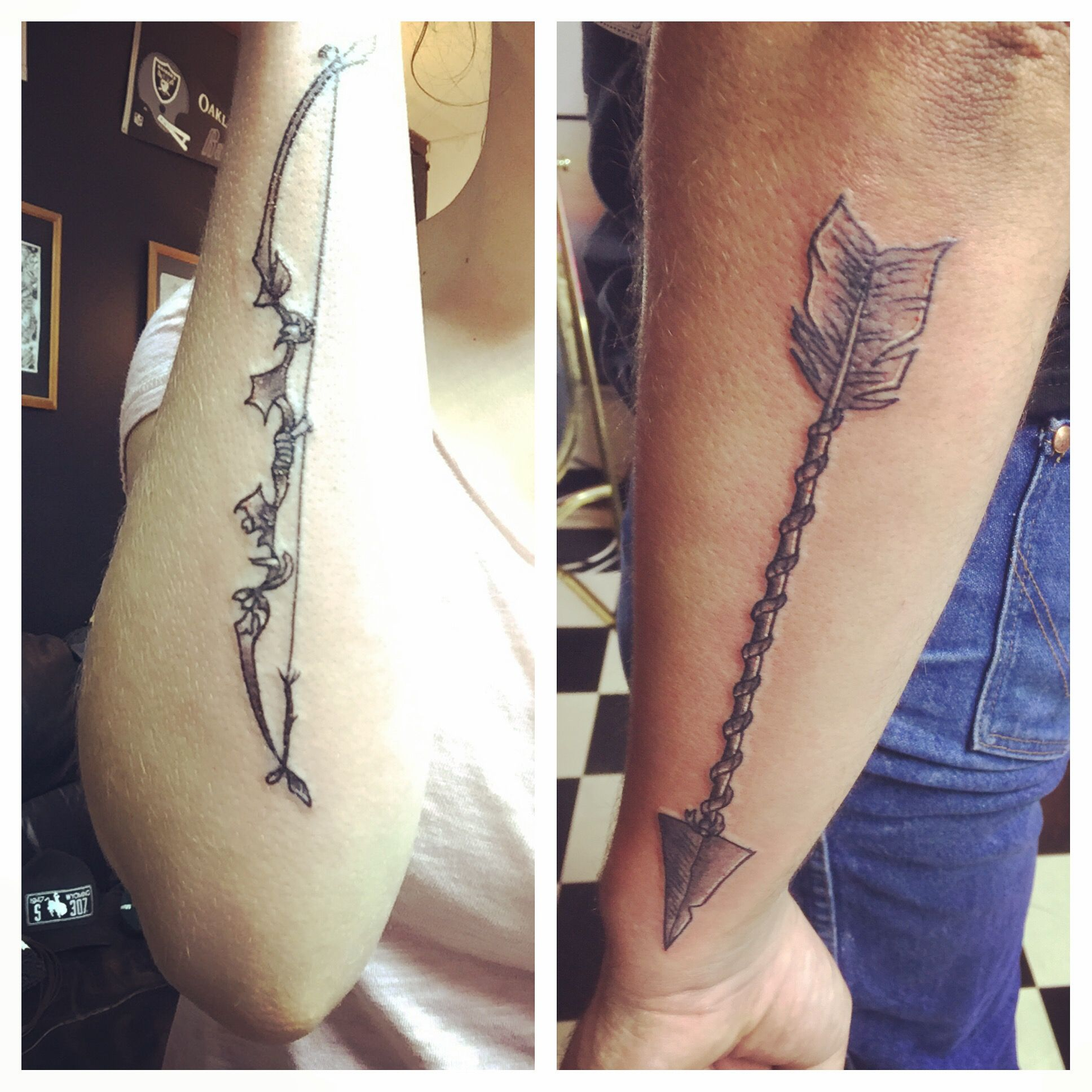 629b6bcb72478 Bow and arrow couples tattoo my boyfriend and I got | Tatoos ...