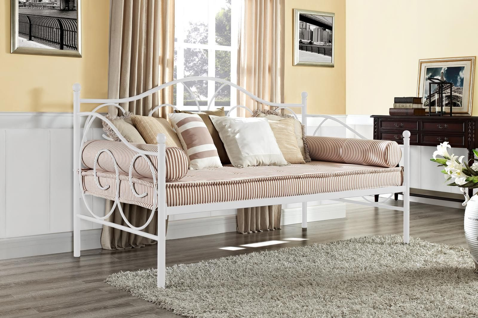 Home Metal daybed, Contemporary living room furniture