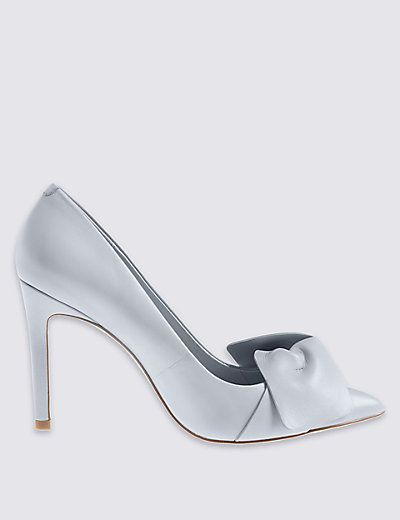 watch running shoes best supplier Leather Stiletto Bow Court Shoes | Court shoes, Bow shoes, Shoe boots