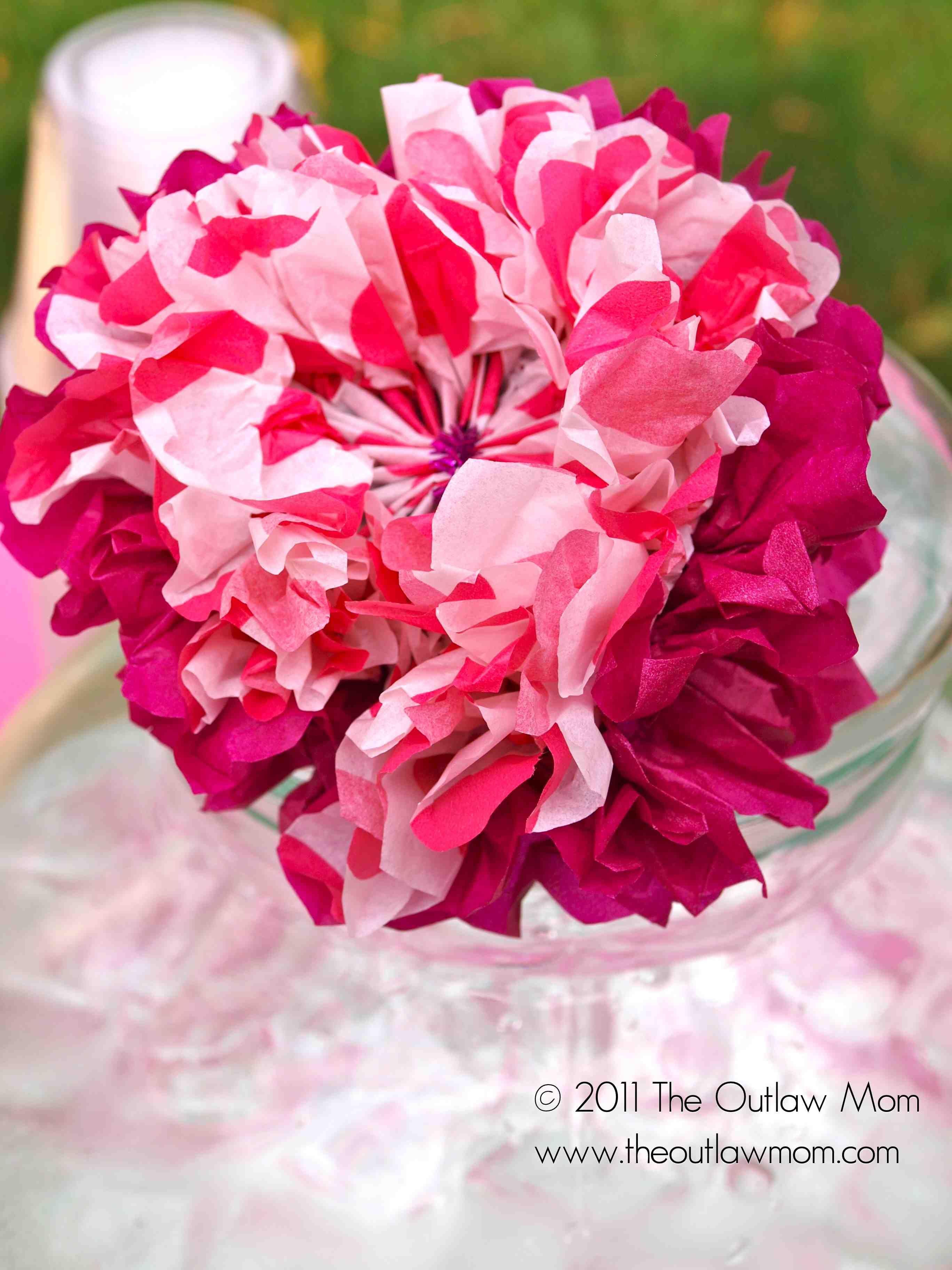 Paper Tissue Flower Tutorial Flowers To Make Pinterest Paper