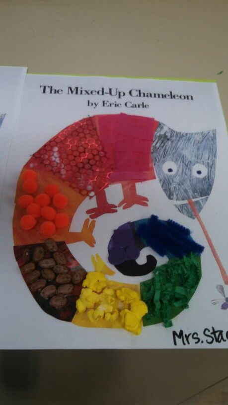 Mixed Up Chameleon Craft We Used Different Textures For The