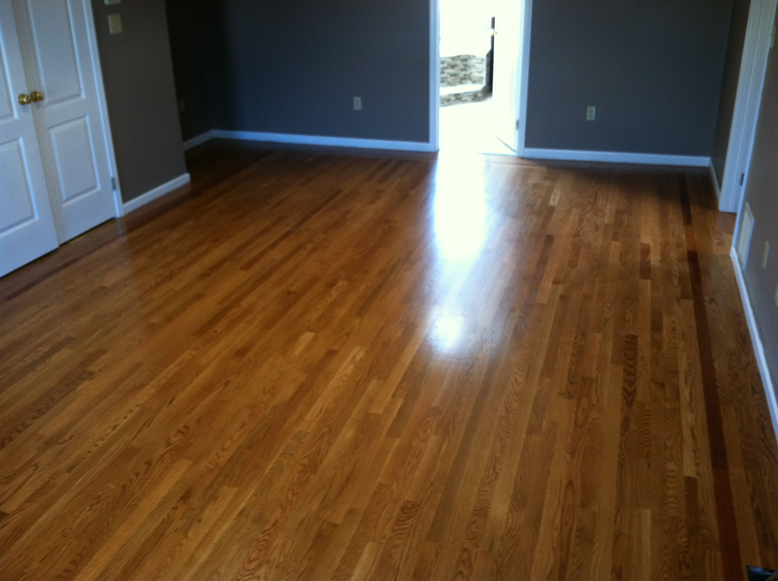 white oak flooring with brazillian cherry single strip. Black Bedroom Furniture Sets. Home Design Ideas