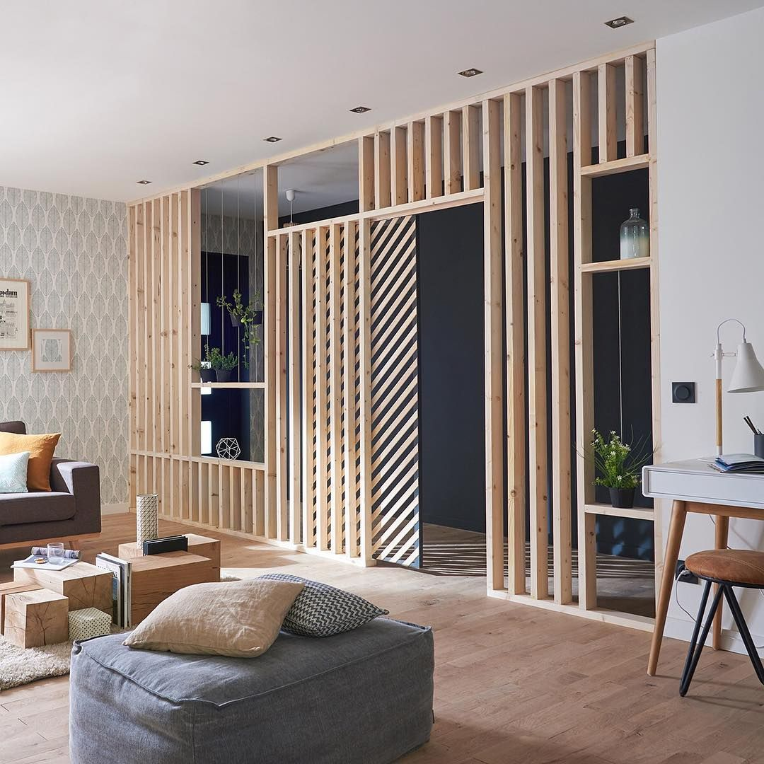 Epingle Par Niak Original Sur Design Interieur Separation Salon Maison Et Tasseau Bois
