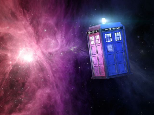 Your portal to all of time and space  - the Doctor's stolen (well, *borrowed*) TARDIS.
