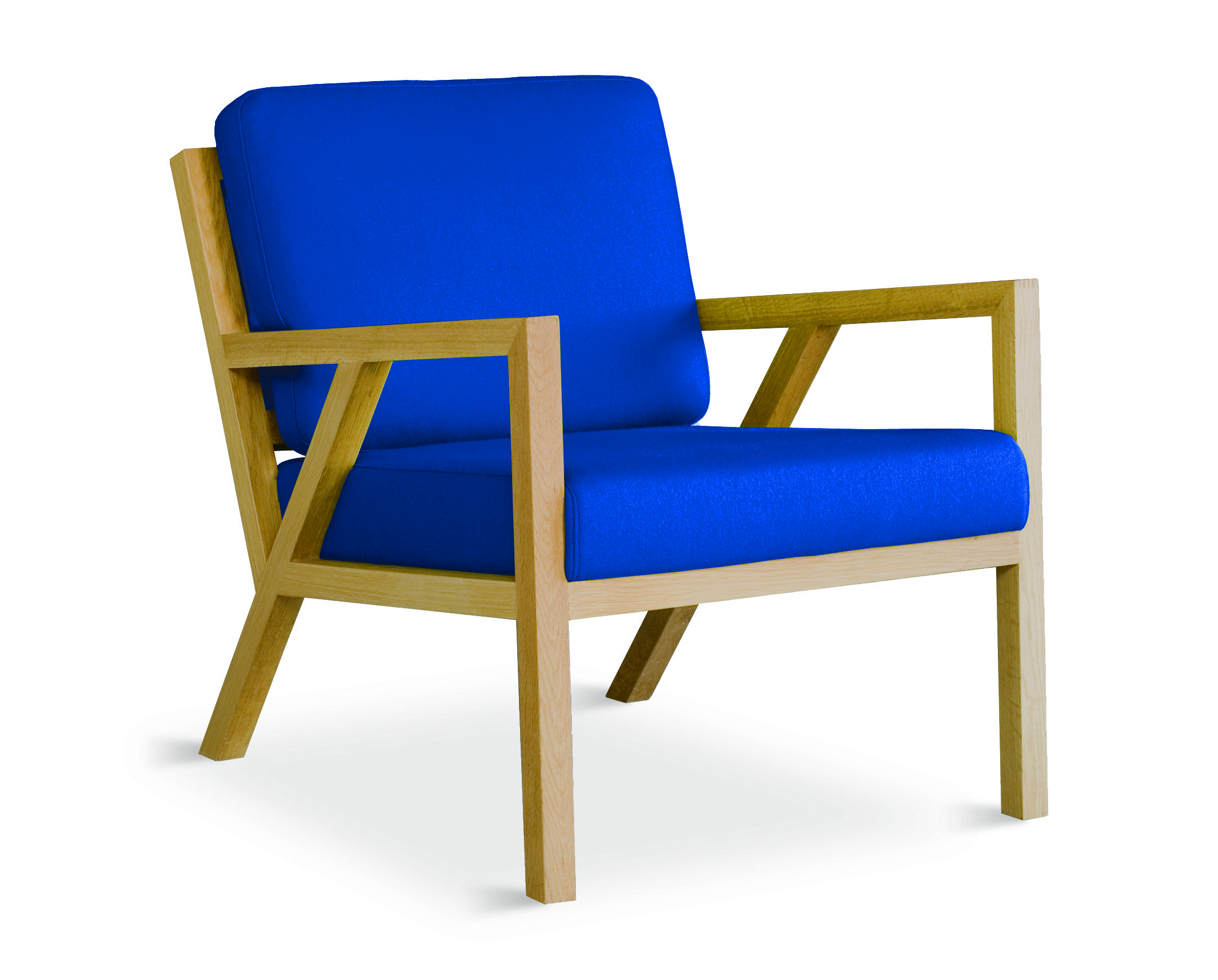 Gus* Modern | Truss Chair In Billiards Electric Blue Http://www.
