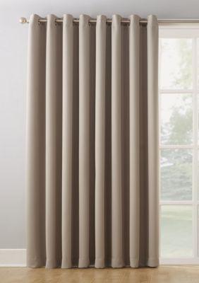 Sun Zero Hayden Extra Wide Blackout Sliding Patio Door Curtain Panel Stone 100 X 84 Patio Door Curtains Door Curtains Patio Doors