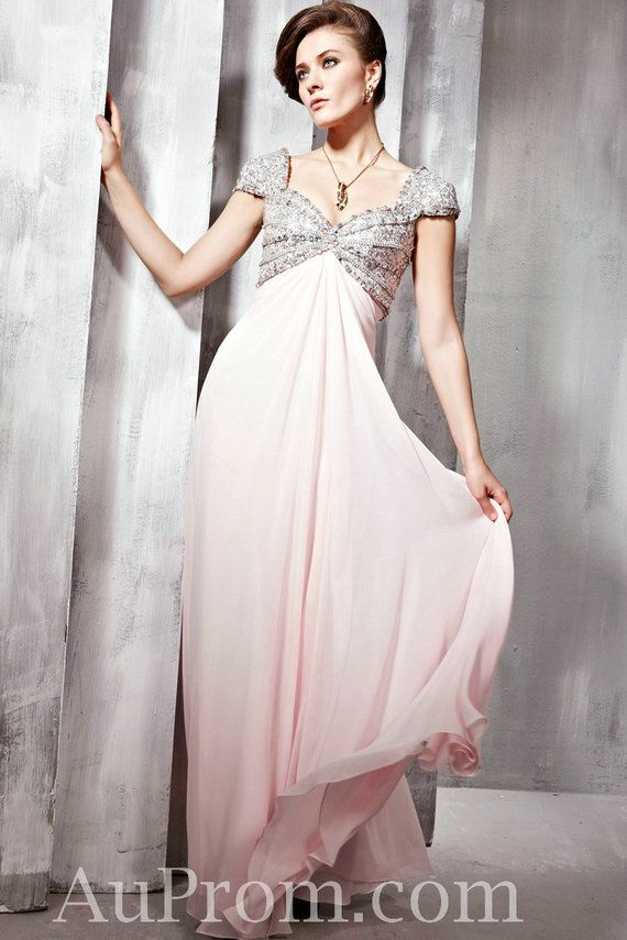 Chiffon Sequin Empire Pink Bridesmaids Dress | MλŦEƦłλŁ GłƦŁ ł₦ λ ...