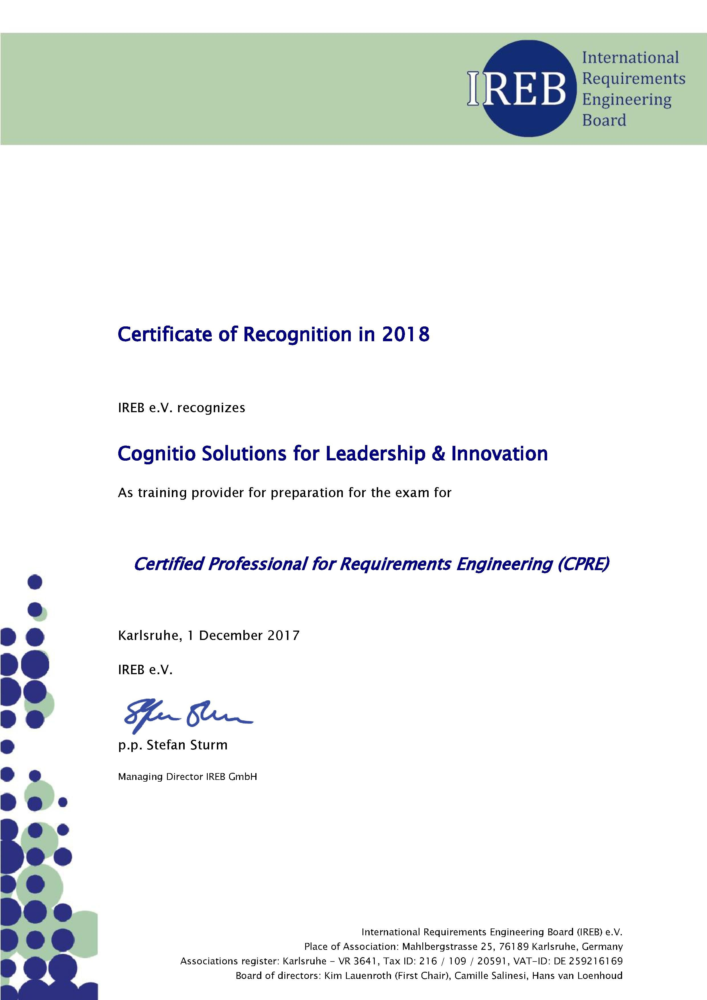 The #Certified #Professional for #Requirements #Engineering (CPRE