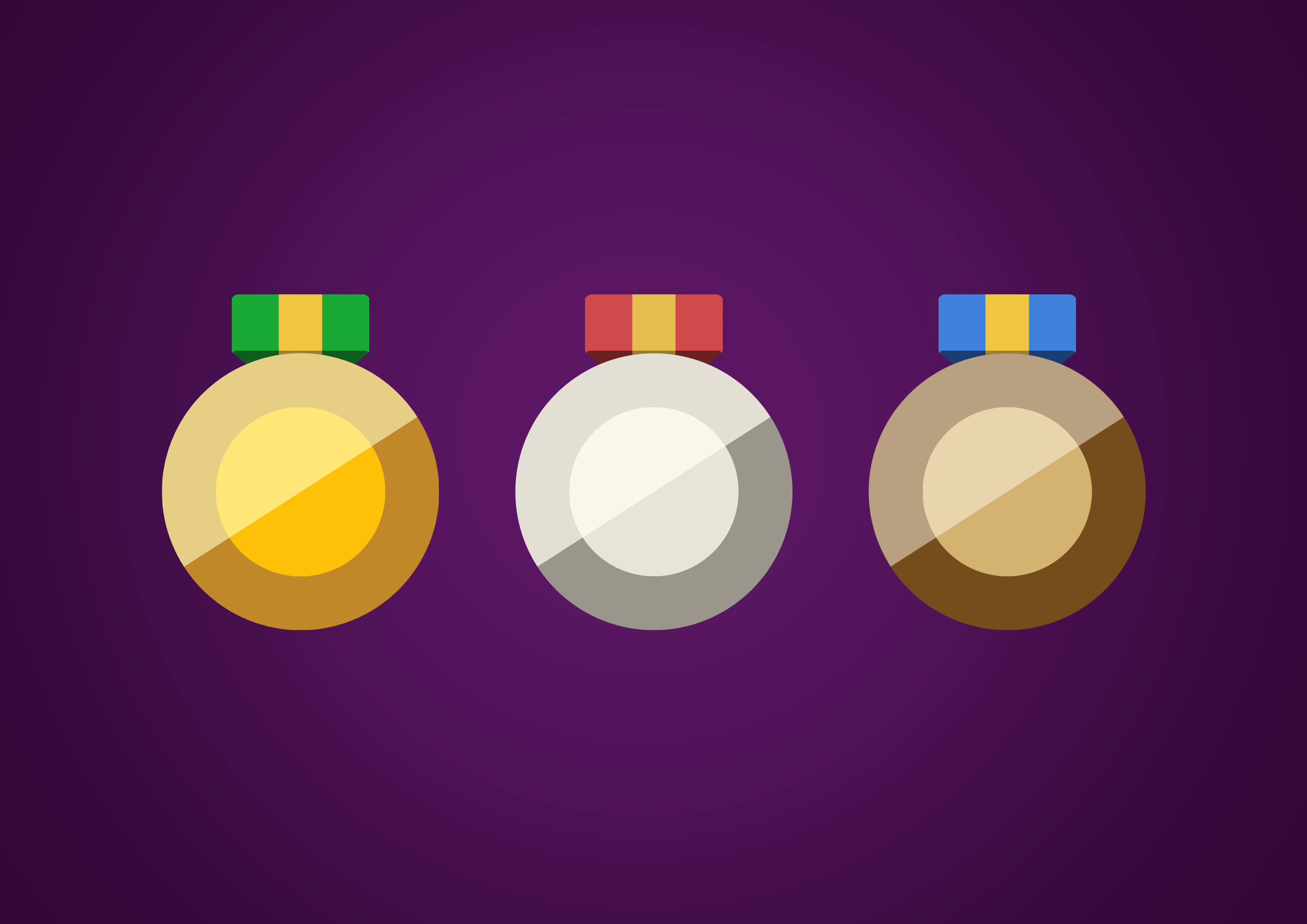 Flat medal icon