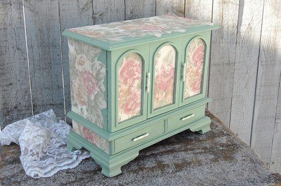 Jewelry Box, Armoire, Shabby Chic, French, Farmhouse