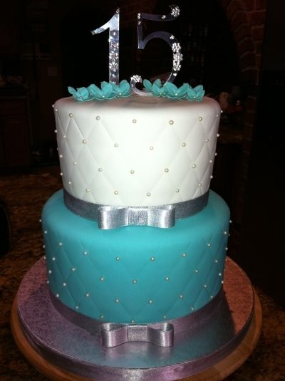 Tiffany Blue Cake By ladyfon on CakeCentralcom For the bride