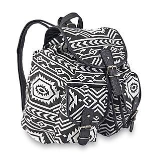 50d0b30441a Bongo Junior s Flap-Front Canvas Backpack - Tribal Print from Kmart ...