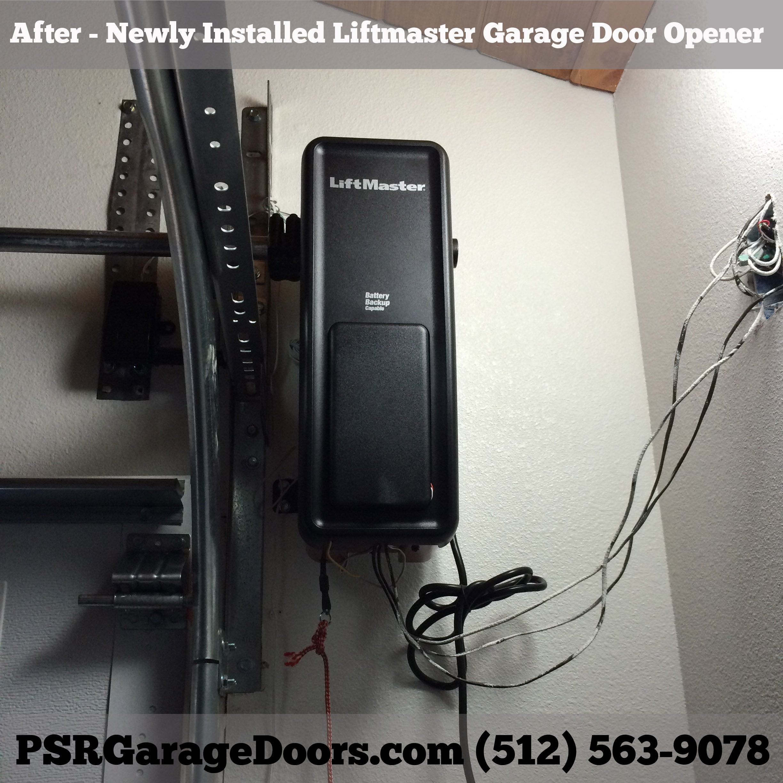 Liftmaster 8500 Elite Series Garage Door Opener Mounted On Right Side Of Garage Door Garage Organization Garage Door Opener Liftmaster 8500