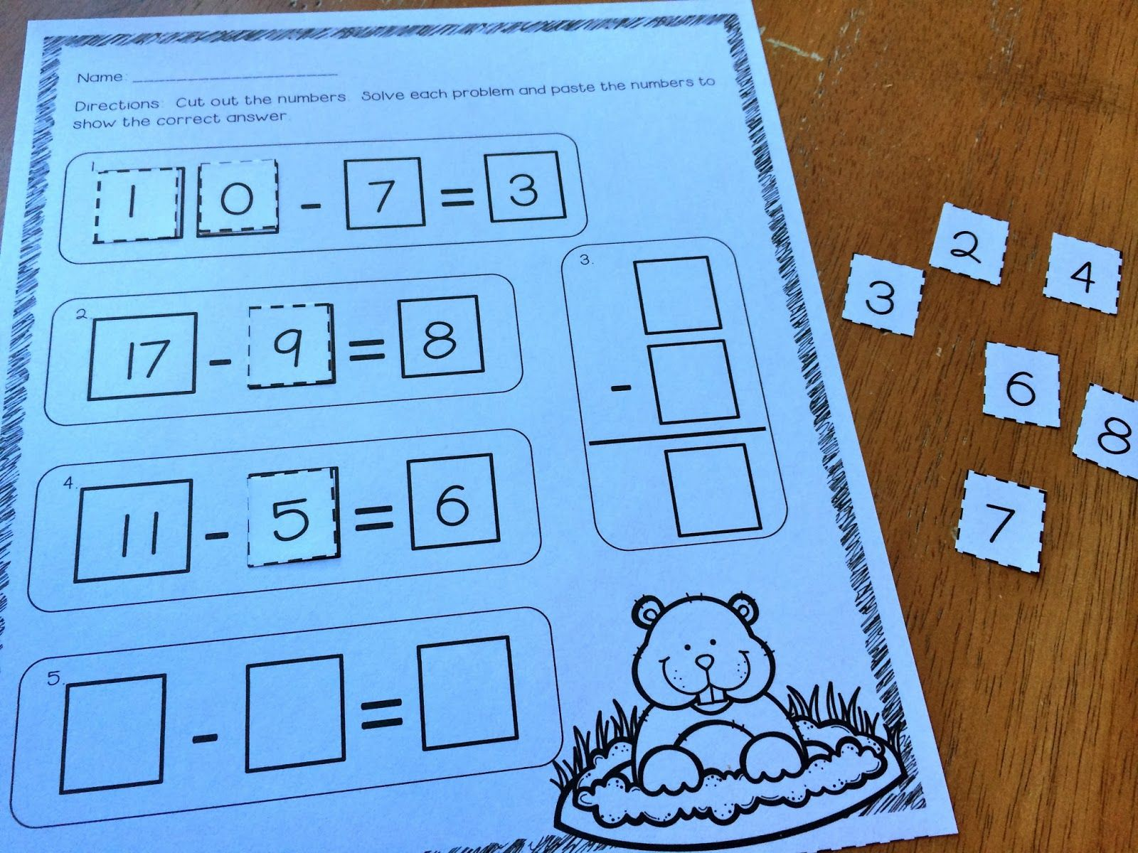 Groundhog Addition And Subtraction Freebie