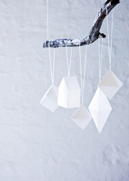 diy paper ornaments, with instructions by by Gigi
