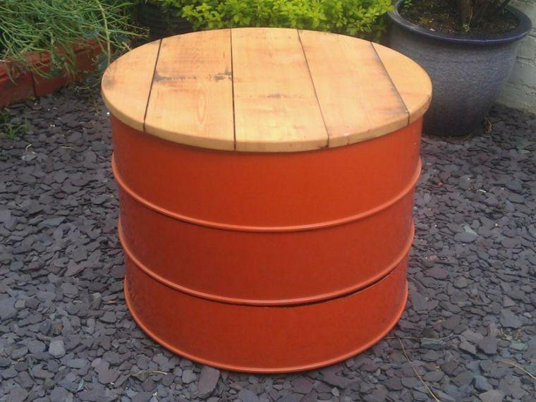 salon de jardin pas cher id es photos et conseils diy bricole mesa de tambor barriles et. Black Bedroom Furniture Sets. Home Design Ideas