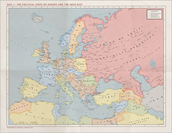 Alternate Cold War 1960 Europe Political Maps Pinterest