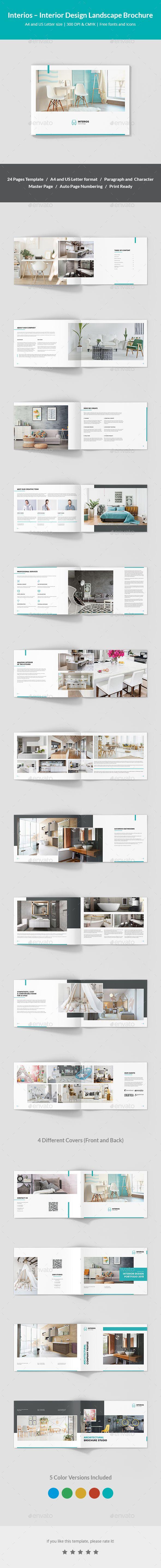 Interios  Interior Design Landscape Brochure  Brochures