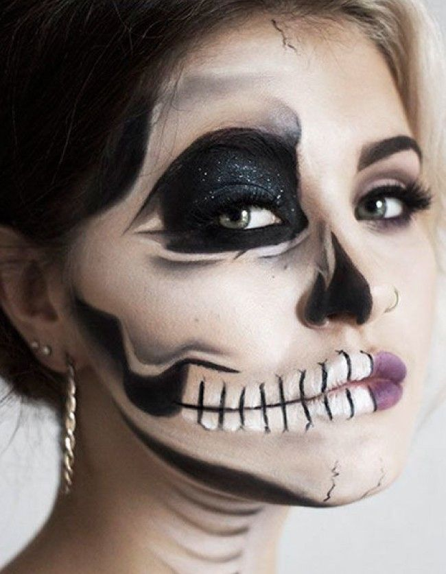 Easy Halloween Makeup Looks Easy halloween makeup, Easy halloween - halloween makeup ideas easy