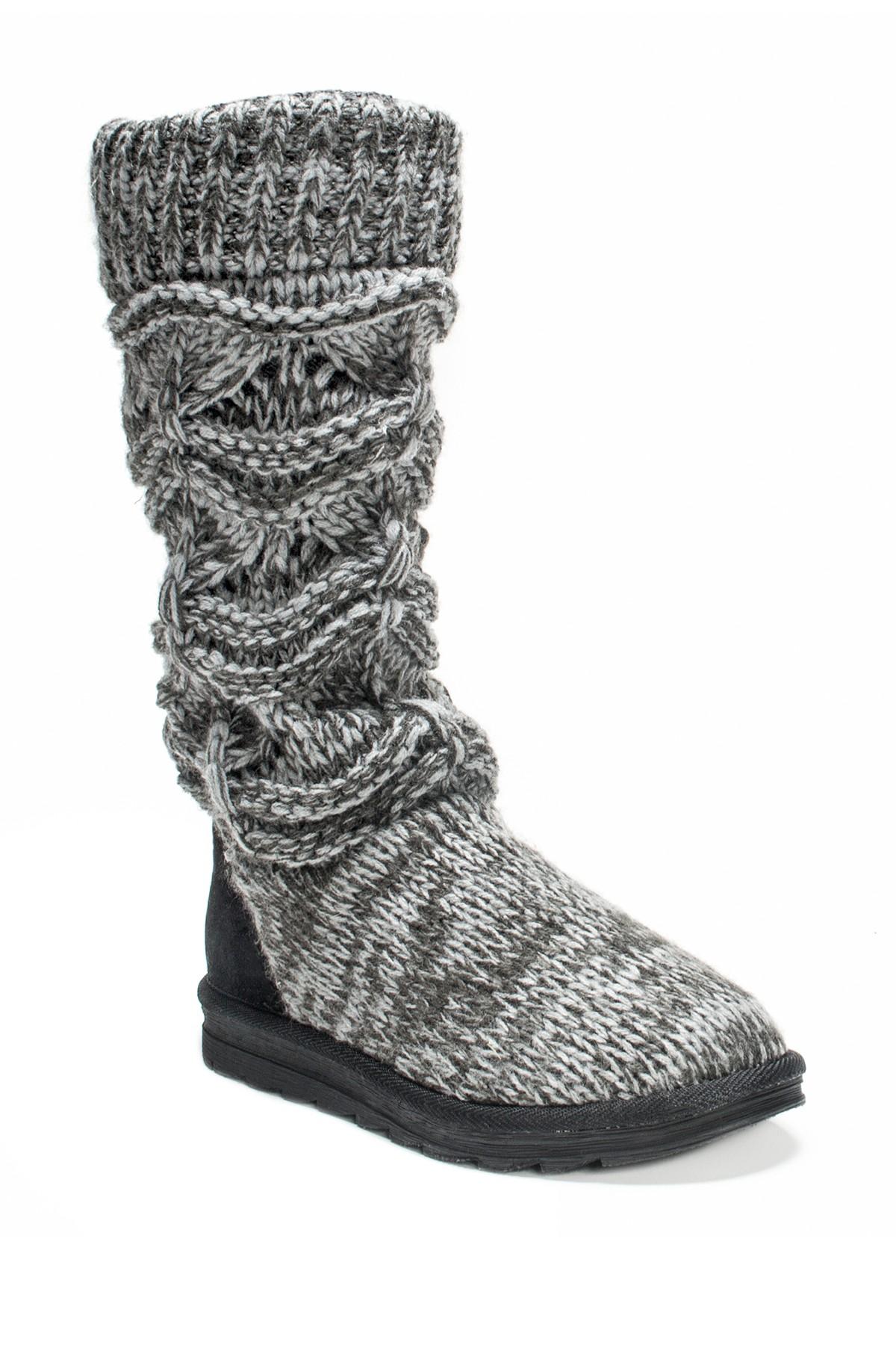 MUK LUKS Jamie Knit Slipper Boot | Womens Fashion Street | Pinterest