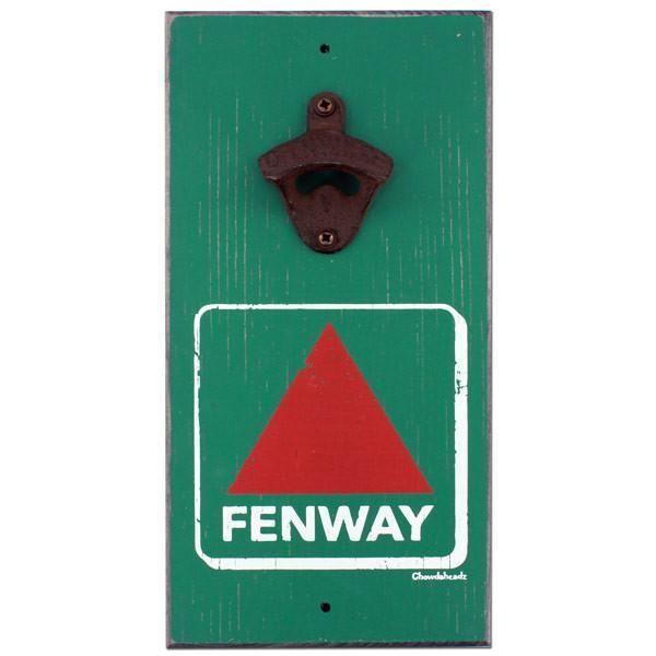 Fenway Bottle Opener Wood Sign