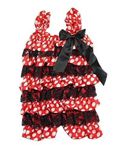 4eb5a98b1c0 PoshPeanut Hot Fashion Toddlers Children Girls Ruffle Lace Rompers Shorts  (XL 4 to 5
