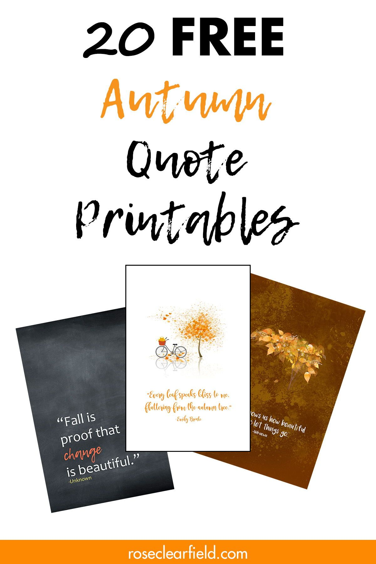 Free Fall Quote Printables With Images